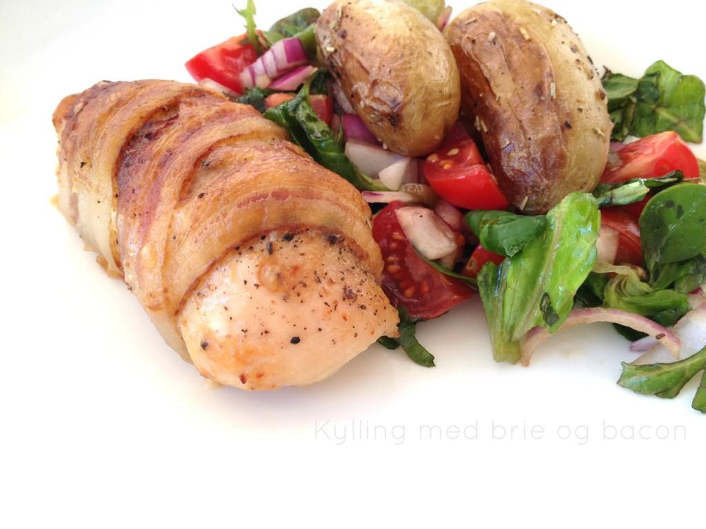 innbakt kylling med bacon